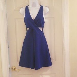 Express dress size 2, open sides blue